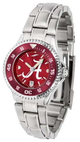 Alabama Crimson Tide Competitor Steel AnoChrome Women's Watch - Color Bezel