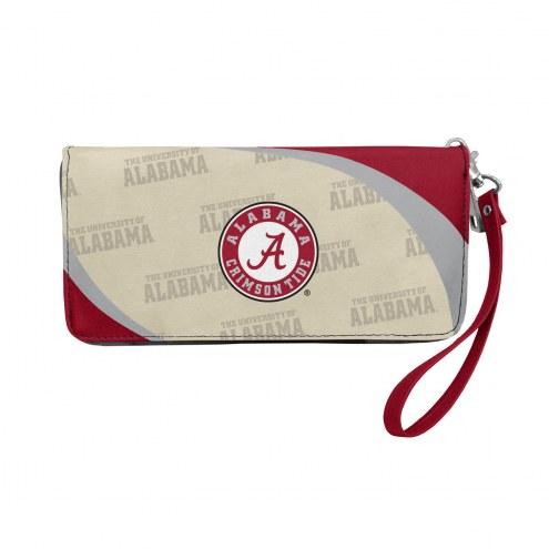 Alabama Crimson Tide Curve Zip Organizer Wallet