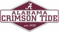 Alabama Crimson Tide Diamond Panel Metal Sign