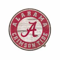Alabama Crimson Tide Distressed Logo Cutout Sign