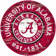 Alabama Crimson Tide Distressed Round Sign
