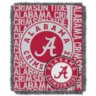 Alabama Crimson Tide Double Play Woven Throw Blanket