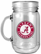Alabama Crimson Tide Double Walled Mason Jar