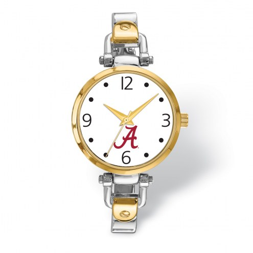 Alabama Crimson Tide Elegant Ladies Two-Tone Watch