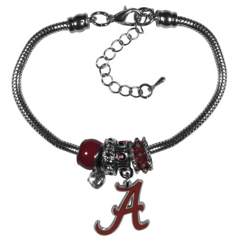 Alabama Crimson Tide Euro Bead Bracelet