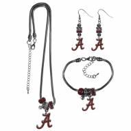 Alabama Crimson Tide Euro Bead Jewelry 3 Piece Set
