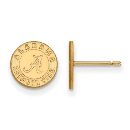 Alabama Crimson Tide College Sterling Silver Gold Plated Extra Small Post Earrings