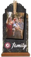 Alabama Crimson Tide Family Tabletop Clothespin Picture Holder