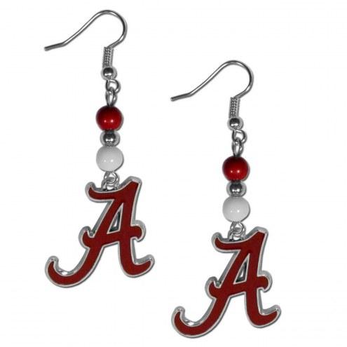 Alabama Crimson Tide Fan Bead Dangle Earrings