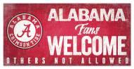 Alabama Crimson Tide Fans Welcome Sign