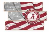 Alabama Crimson Tide Flag 3 Plank Sign