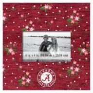 """Alabama Crimson Tide Floral 10"""" x 10"""" Picture Frame"""
