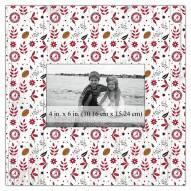 """Alabama Crimson Tide Floral Pattern 10"""" x 10"""" Picture Frame"""