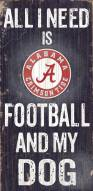 Alabama Crimson Tide Football & Dog Wood Sign