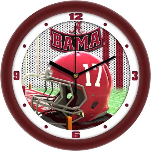 Alabama Crimson Tide Football Helmet Wall Clock