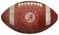Alabama Crimson Tide Football Shaped Sign