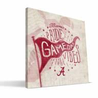 Alabama Crimson Tide Gameday Vibes Canvas Print