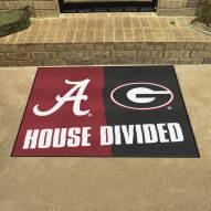 Alabama Crimson Tide/Georgia Bulldogs House Divided Mat