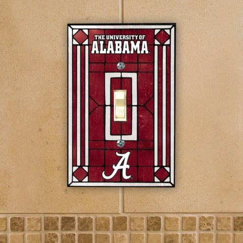 Alabama Crimson Tide Glass Single Light Switch Plate Cover