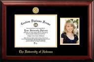 Alabama Crimson Tide Gold Embossed Diploma Frame with Portrait