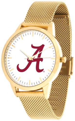 Alabama Crimson Tide Gold Mesh Statement Watch