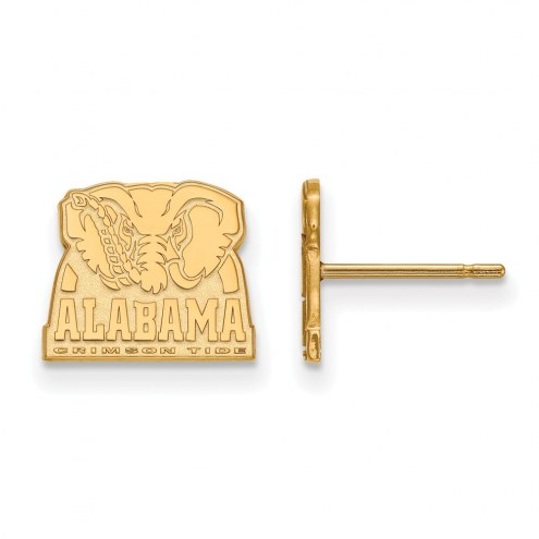 Alabama Crimson Tide Sterling Silver Gold Plated Extra Small Post Earrings