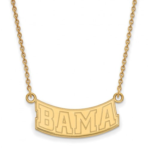 Alabama Crimson Tide Sterling Silver Gold Plated Small Pendant Necklace