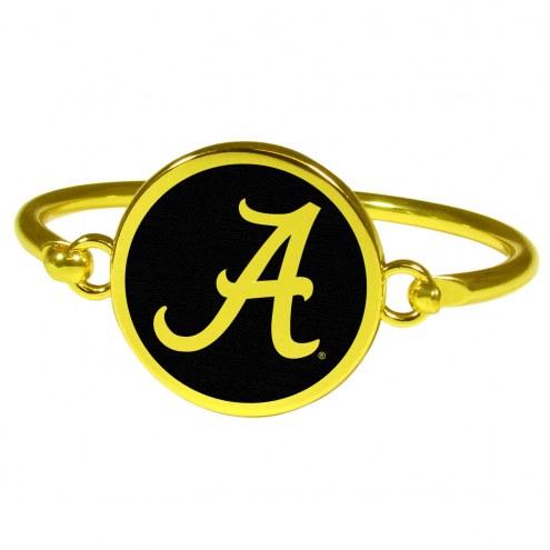 Alabama Crimson Tide Gold Tone Bangle Bracelet