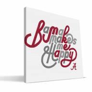Alabama Crimson Tide Happy Canvas Print