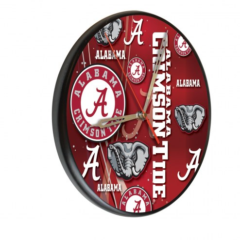 Alabama Crimson Tide Digitally Printed Wood Clock