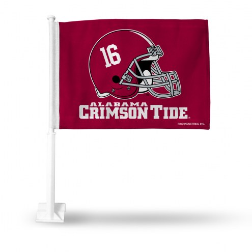 Alabama Crimson Tide Helmet Car Flag