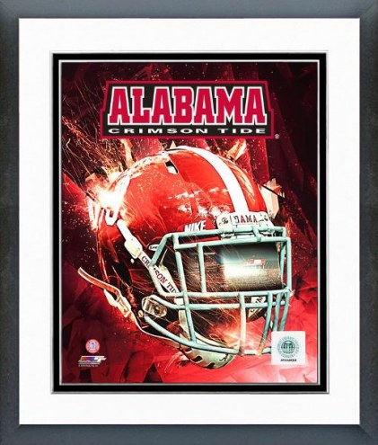 Alabama Crimson Tide Helmet Composite Framed Photo