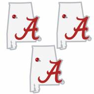 Alabama Crimson Tide Home State Decal - 3 Pack