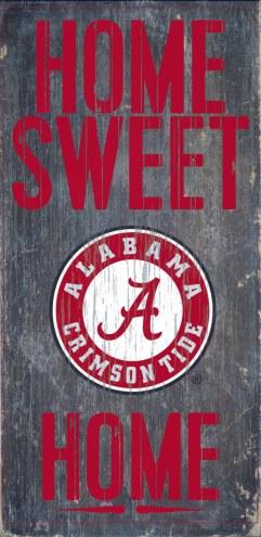 Alabama Crimson Tide Home Sweet Home Wood Sign
