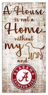 Alabama Crimson Tide House is Not a Home Sign