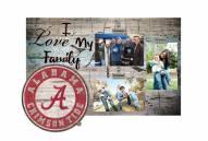 Alabama Crimson Tide I Love My Family Clip Frame