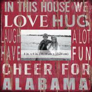 """Alabama Crimson Tide In This House 10"""" x 10"""" Picture Frame"""