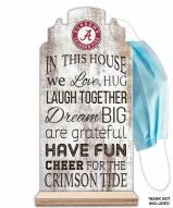 Alabama Crimson Tide In This House Mask Holder