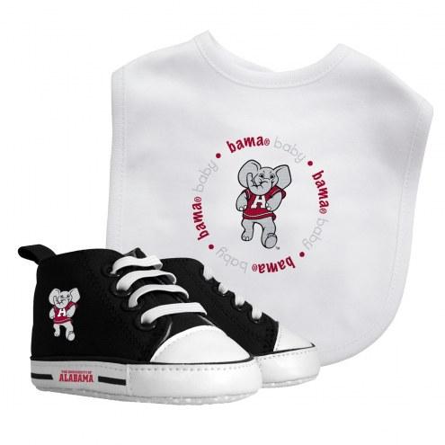 Alabama Crimson Tide Infant Bib & Shoes Gift Set