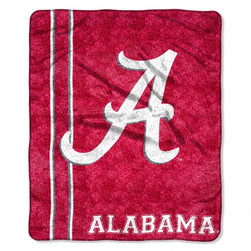 Alabama Crimson Tide Jersey Sherpa Blanket