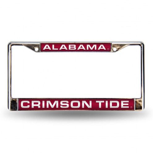 Alabama Crimson Tide Laser Chrome License Plate Frame