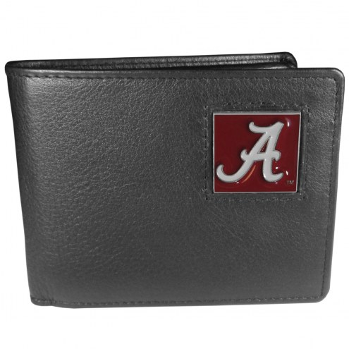 Alabama Crimson Tide Leather Bi-fold Wallet in Gift Box