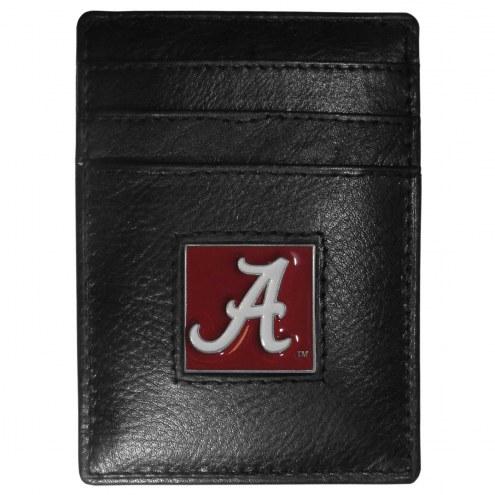 Alabama Crimson Tide Leather Money Clip/Cardholder in Gift Box