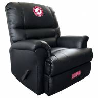 Alabama Crimson Tide Leather Sports Recliner
