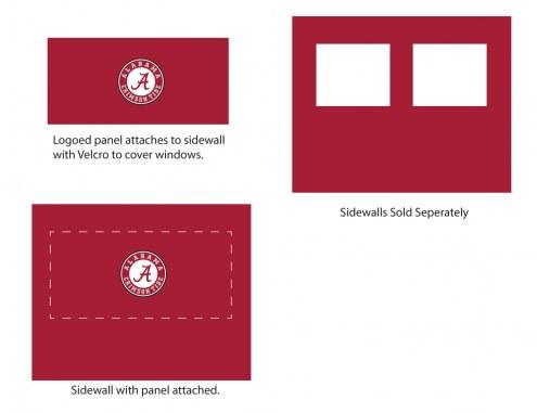 Alabama Crimson Tide Logo Canopy Sidewall Panel (Attaches to Window Sidewall)
