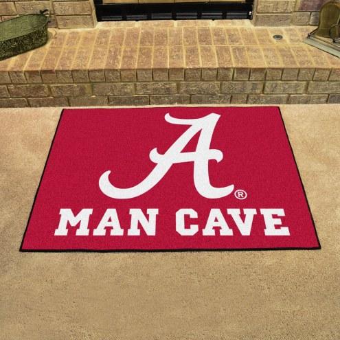 Alabama Crimson Tide Man Cave All-Star Rug