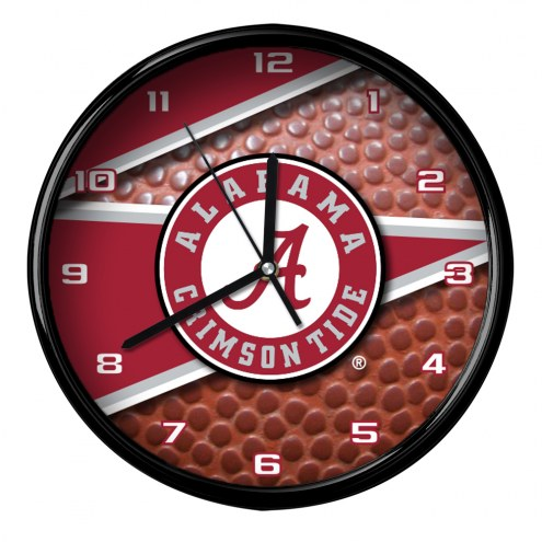 Alabama Crimson Tide Football Clock