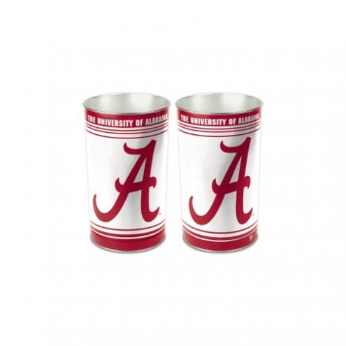 Alabama Crimson Tide Metal Wastebasket