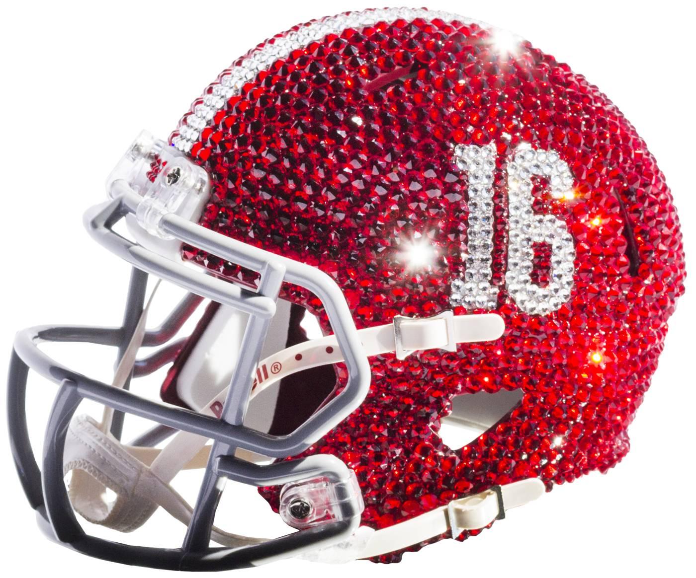 3abaceb997a Alabama Crimson Tide Mini Swarovski Crystal Football Helmet