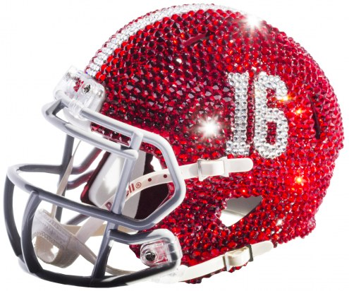 Alabama Crimson Tide Mini Swarovski Crystal Football Helmet